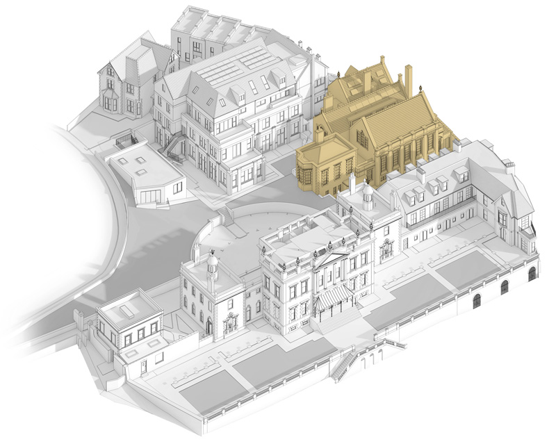 Siteplan highlighting location of The Old School Building