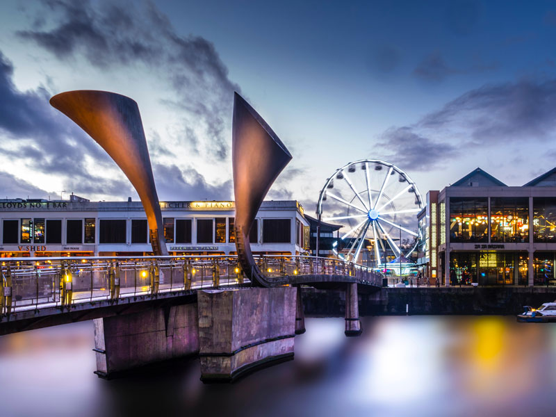 The waterfront in Bristol city centre