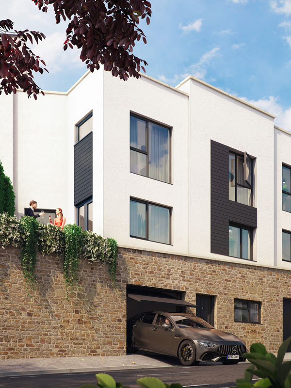 Townhouse Exterior View