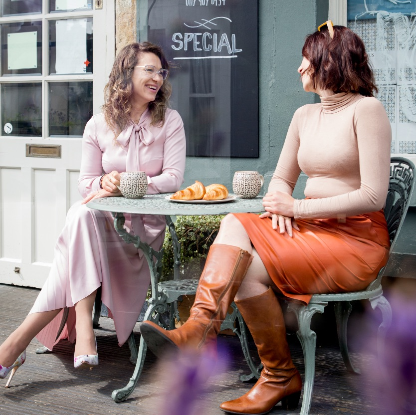 Two women enjoy a coffee and a chat at one of Redland's many independent coffee shops