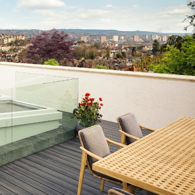 Stunning view from West Villa's amazing roof-top terrace